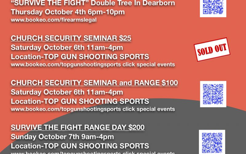 JOHN CORRIEA from Active Self Protection will be here .