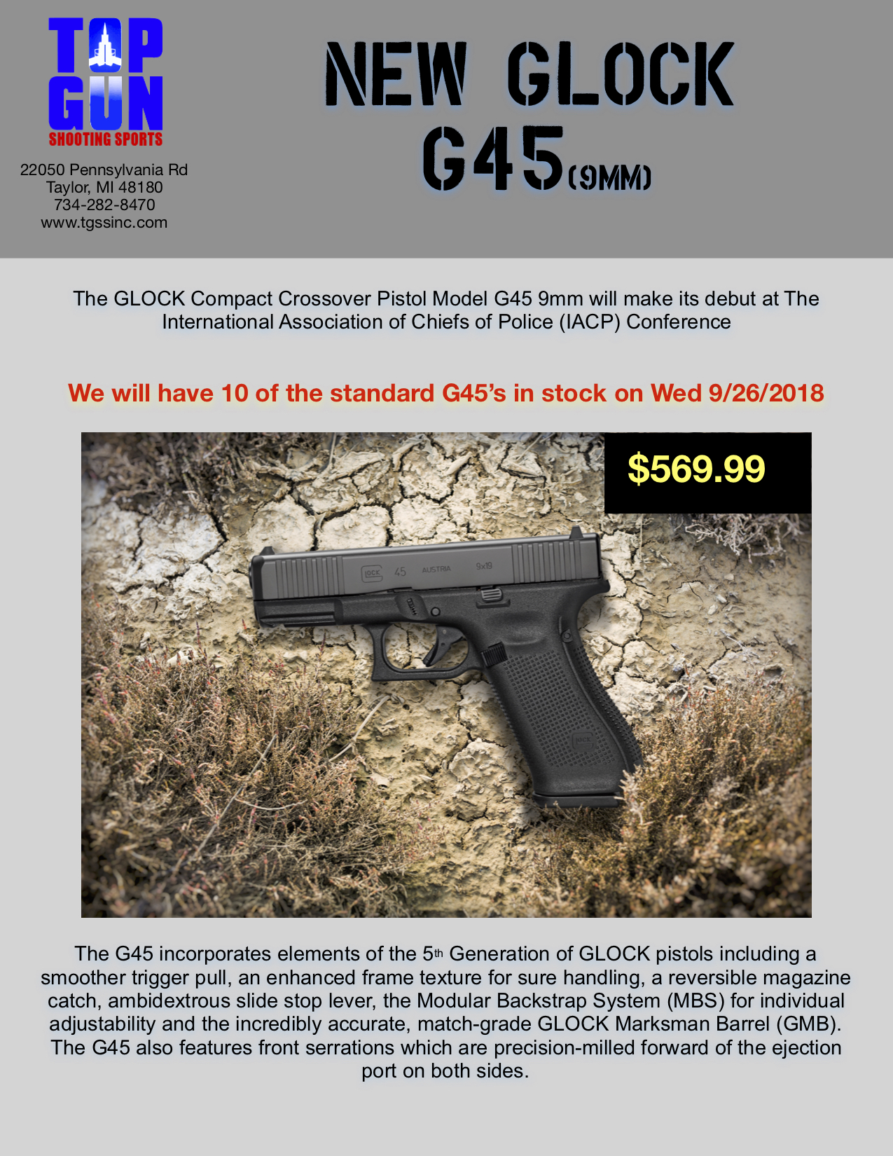 glock-9mm-top-gun-shooting-range-45 | Top Gun Shooting Sports Inc
