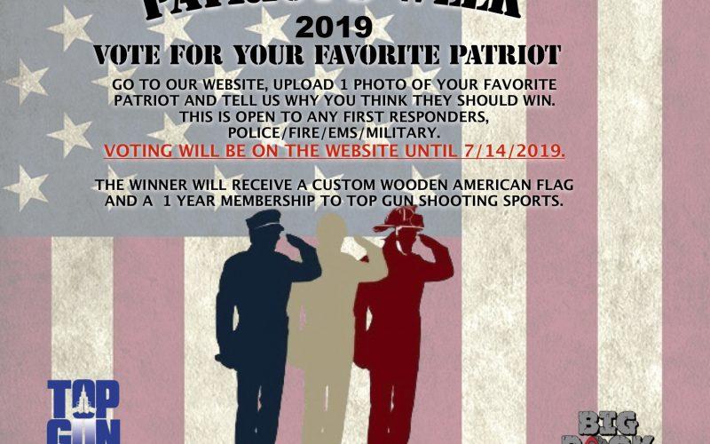 Vote for your Favorite Local Patriot 2019!